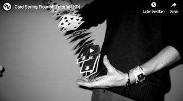 Card Springer Flourish - tutorial