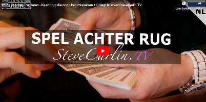 Kaartspel achter rug - Steve carlin