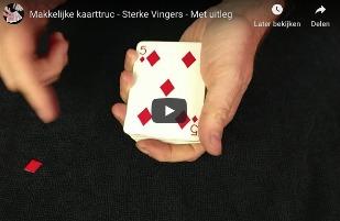 Kaarttruc - sterke vingers