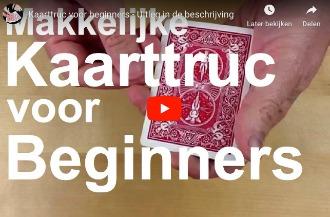 Kaarttruc voor beginners