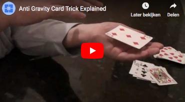 Zwevende kaart - Kaarttruc